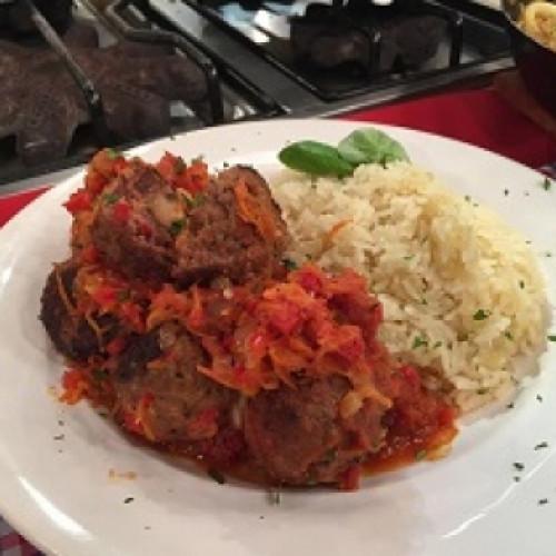 Arroz Con Albóndigas En Salsa Cocineros Argentinos