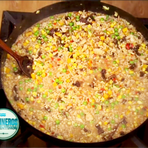 Risotto vegetariano con ritmo tropical