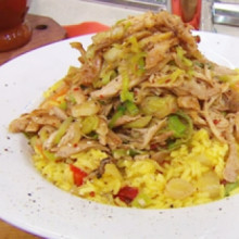 Arroz con pollo reciclado