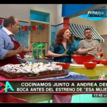 Brownie con merengue italiano con Andrea del Boca