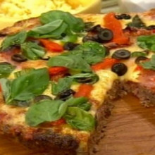 Espectacular pizza de carne