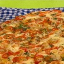 Pizza de pan reciclada