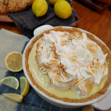 Lemon pie en fuente