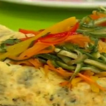 Show de omelettes vegetariano