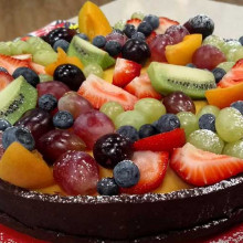 Tarta tropical multifruta